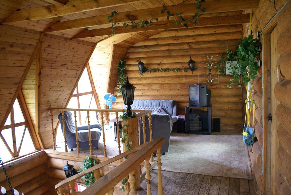 Интерьеры деревянных домов Интерьеры домов из бревна.